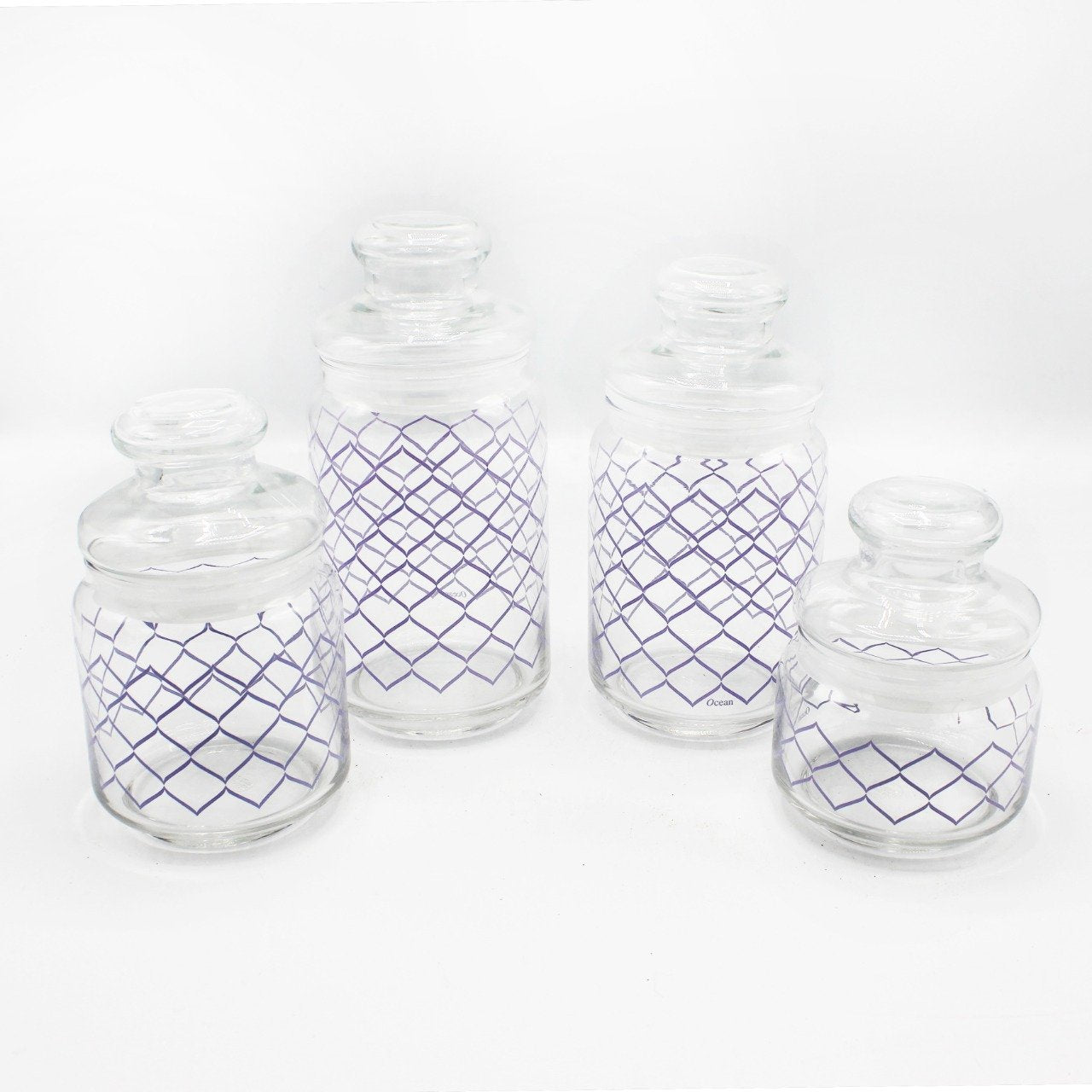 Ocean Glass Pop Jars - Pack of 4 - waseeh.com