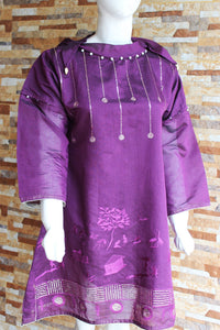 Navy Blue Embroided - Purple - Ladies - waseeh.com