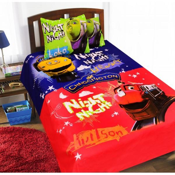 Single Kids Bed Sheet Set - Chuggington Red - waseeh.com