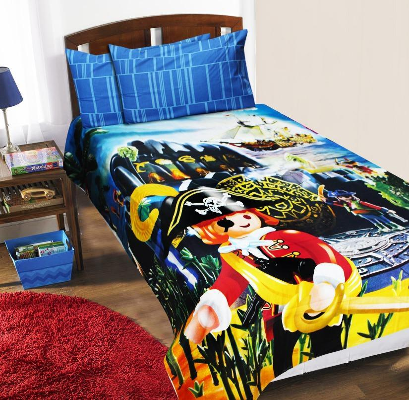 Kids Single Bed Sheet Set- Lego Pirates - waseeh.com