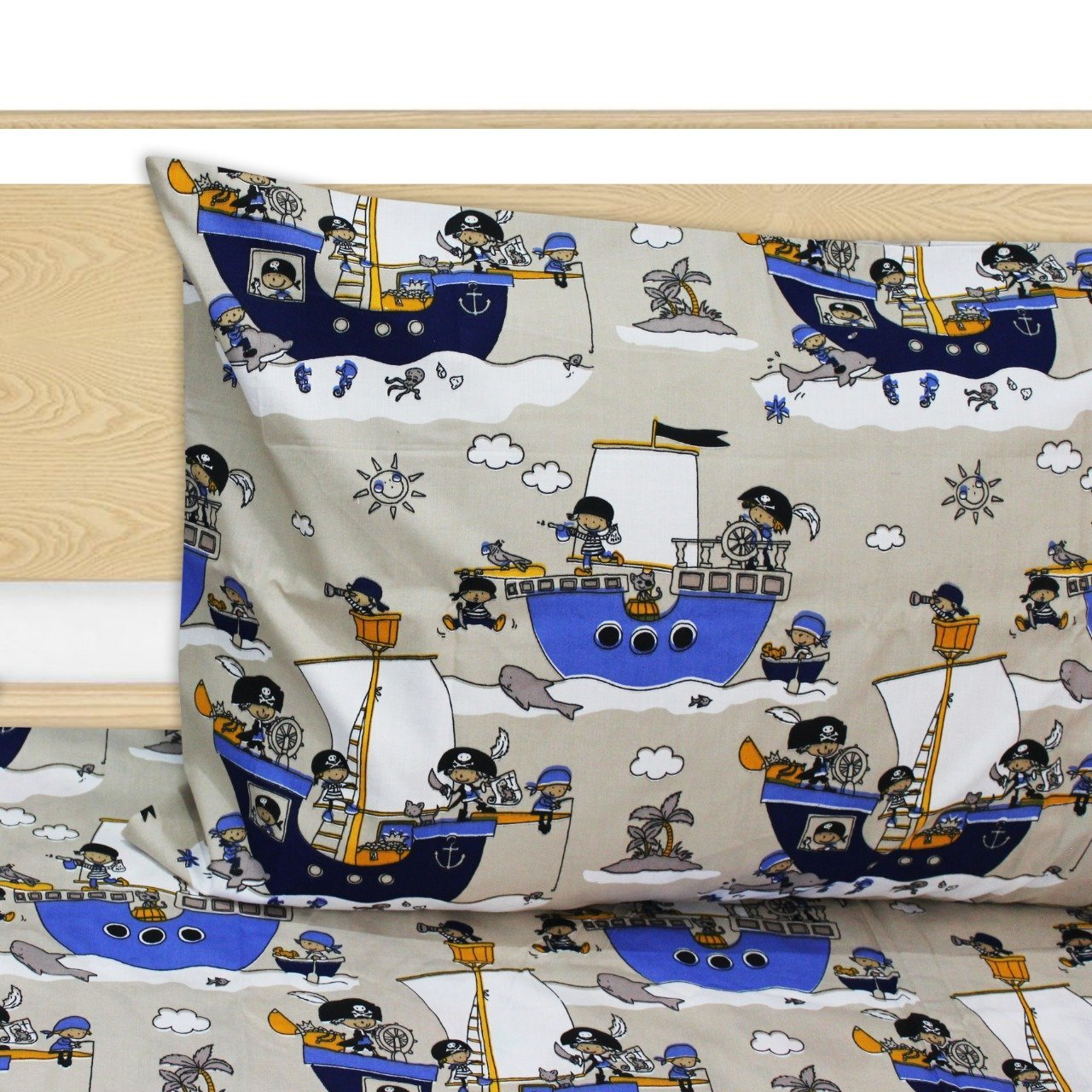 Kids Bed Sheet - Boats - waseeh.com