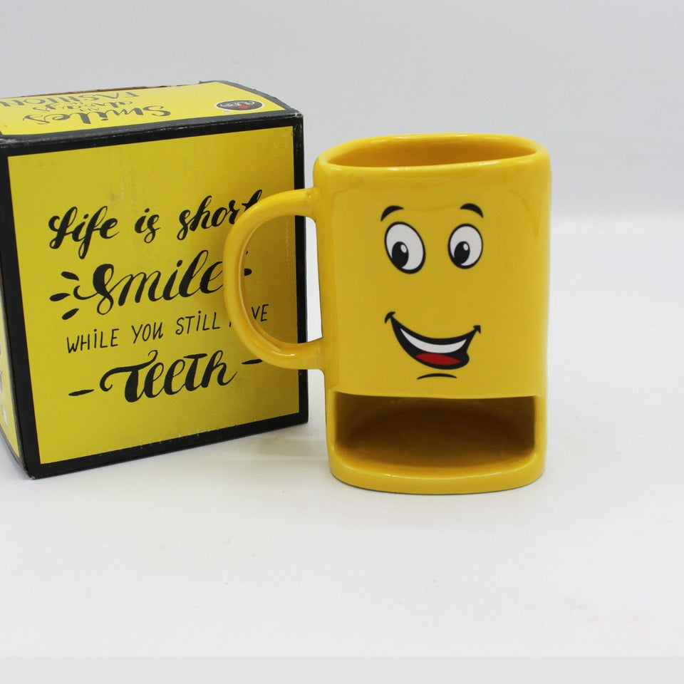 Smile a little Emoji Multi-Purpose Mug - waseeh.com
