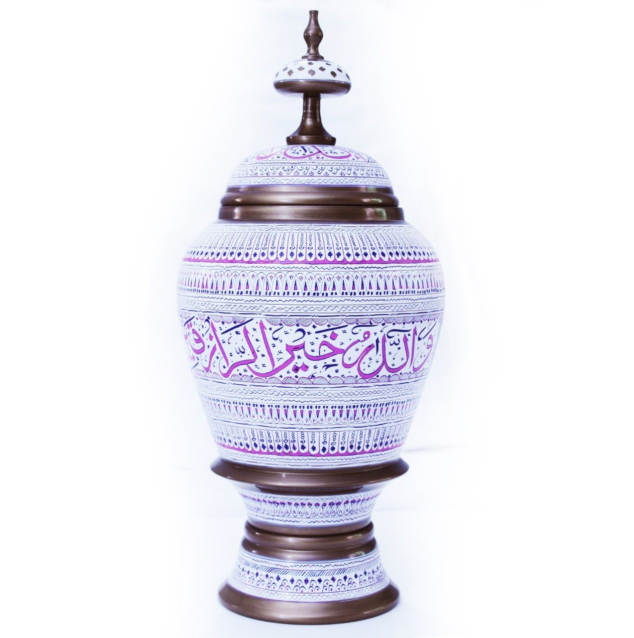 "Wooden Pot - Calligraphy - 17"" - waseeh.com"