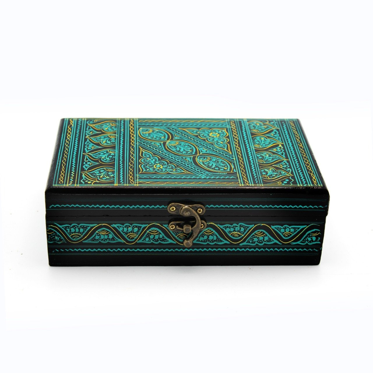 "Wooden Hand Made Jewellery Box - Small - 8"" x 5"" - waseeh.com"