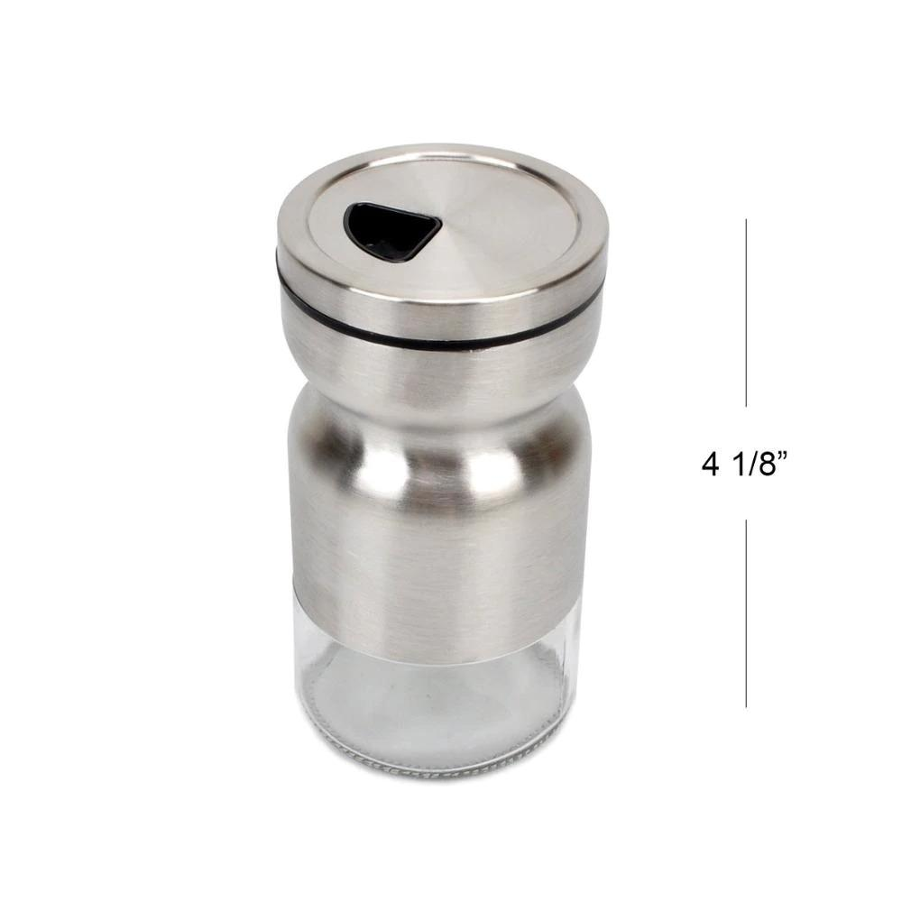 Home Puff Metal Spice Bottle with Stand 130mL, Set of 2 - waseeh.com