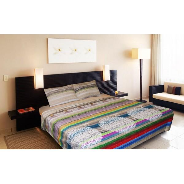Percale Cotton Double Bed Sheet With 2 Pillow Cases -pr007 - waseeh.com