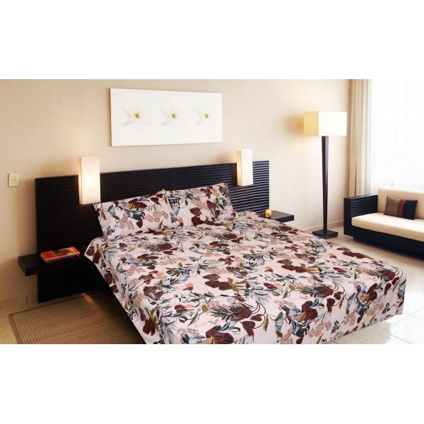 Percale Cotton Double Bed Sheet With 2 Pillow Cases -pr017 - waseeh.com
