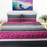 Export Quality Bed Sheet - Multi Color Patterned -qcb6 - waseeh.com