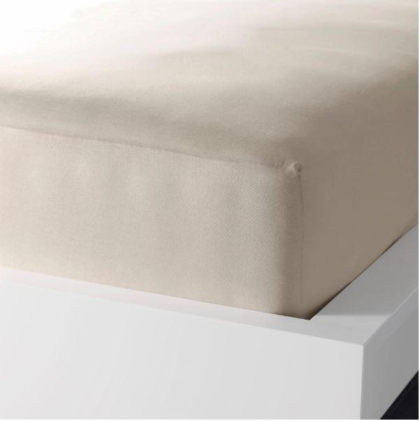 Single Fitted Sheet - Beige - waseeh.com