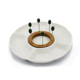 Snack Plate with 6 Forks - waseeh.com