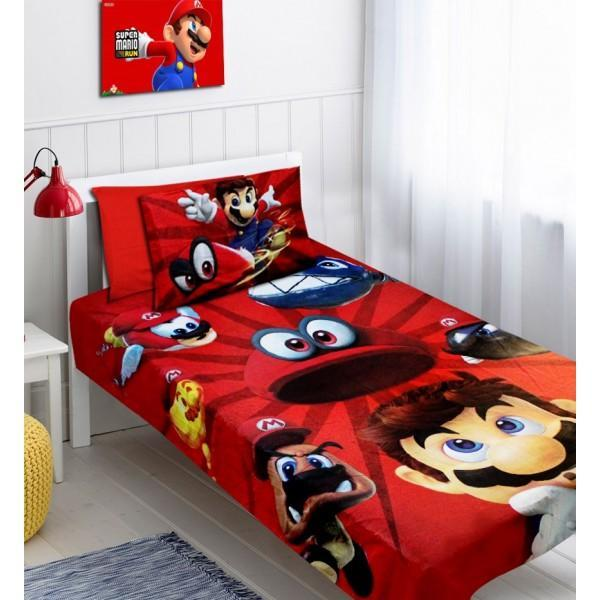 Single Kids Bed Sheet Set #Super Mario - waseeh.com