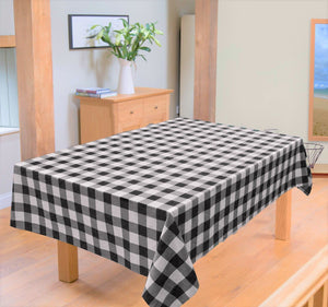 Table Cover Cotton Duck - In Check Design - waseeh.com