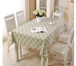 Table Cover Duck Cotton - Gray Geometric - waseeh.com