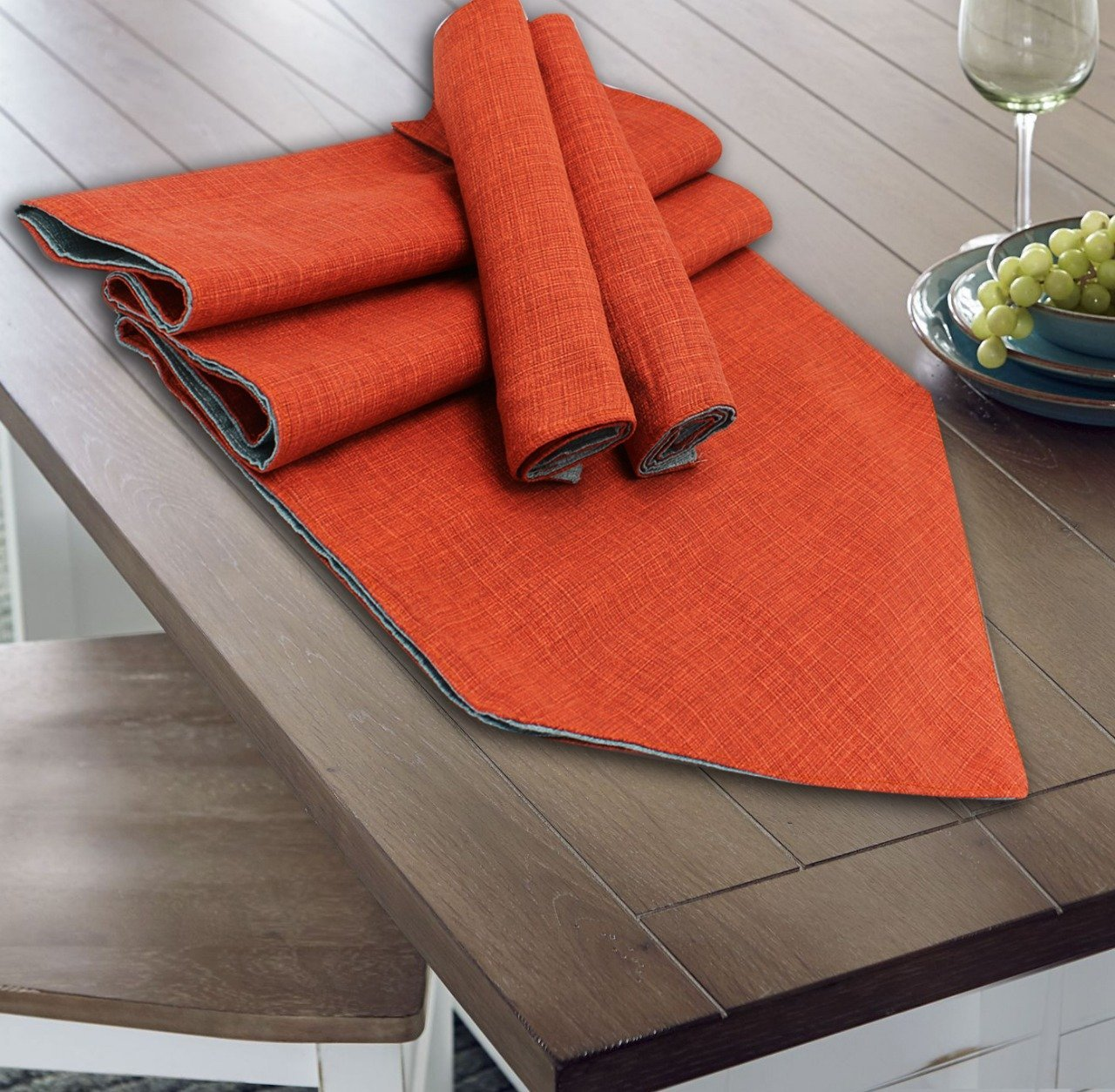 Table Runner 7 PC Set - Textured - Double - waseeh.com