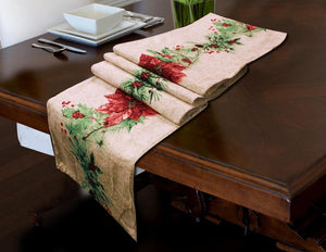 Table Runner - 1 pc - Red Flower - waseeh.com
