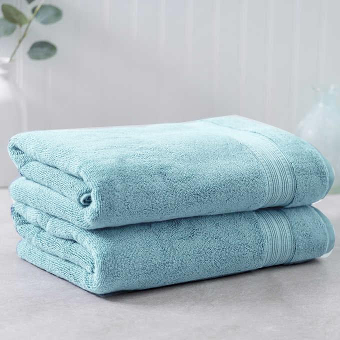 Teal Egyptian Cotton Bath Towel - Pack of 2 - waseeh.com