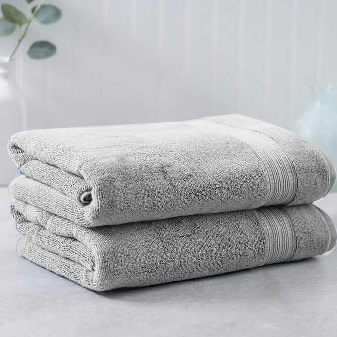 Light Gray Egyptian Cotton Towel - Pack of 2 - waseeh.com