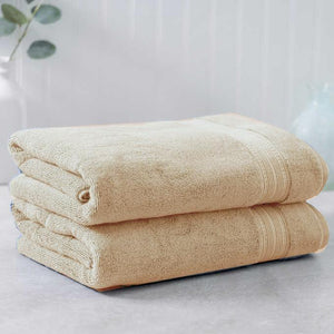 Beige Egyptian Cotton Towel - Pack of 2 - waseeh.com