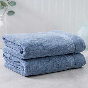Light Blue Egyptian Cotton Towel - Pack of 2 - waseeh.com