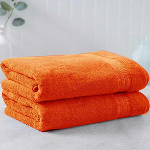 Orange Egyptian Cotton Towel - Pack of 2 - waseeh.com