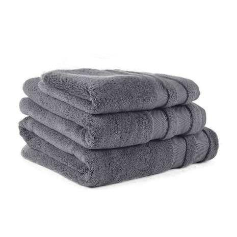 Steel Grey Egyptian Cotton Towel - Pack of 3 - waseeh.com