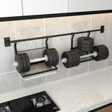 Punch Free Black Stainless Steel Rack