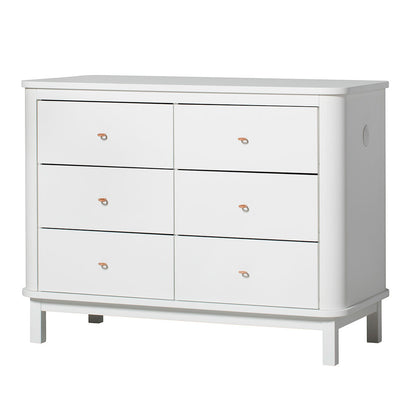 Oliver Furniture Wood kommode, m. 6 skuffer - hvid