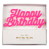 Meri Meri kagelys, Happy Birthday - Pink