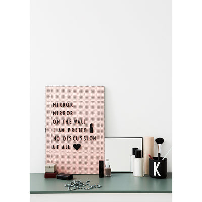 Design Letters, Kontor ikoner til Message Board - black