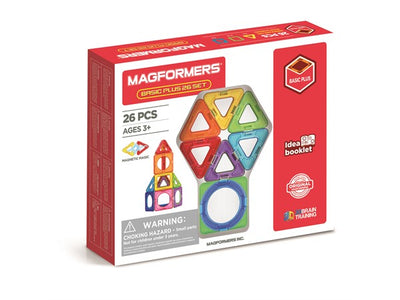 Magformers, magnetisk byggesæt - Basic Plus 26 set