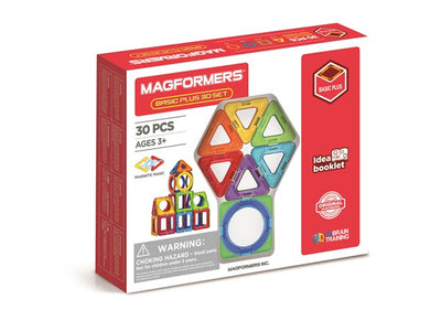 Magformers, magnetisk byggesæt - Basic Plus 30 set