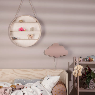 ferm Living lampe, Cloud - dusty rose - vist på børneværelse