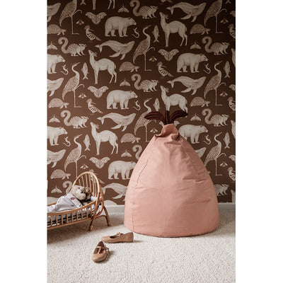 ferm Living sækkestol, Pear - Dusty Rose