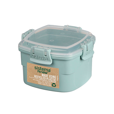 Sistema Snack box 400 ml renew, todelt madkasse - Mint