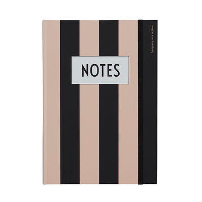 Design Letters Notesbog - Nude stripe
