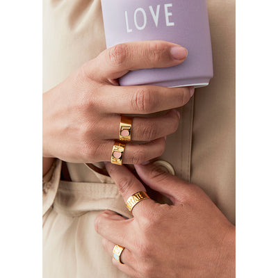 Design Letters Mom ring, guld - Nude - str. 50-56