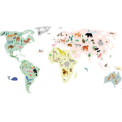 Mimi lou wallsticker, Giant world map