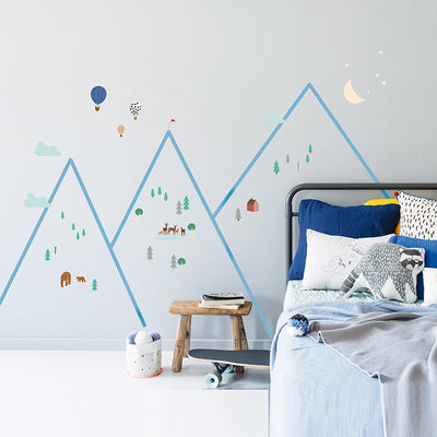 Mimi lou wallsticker, Mouintains
