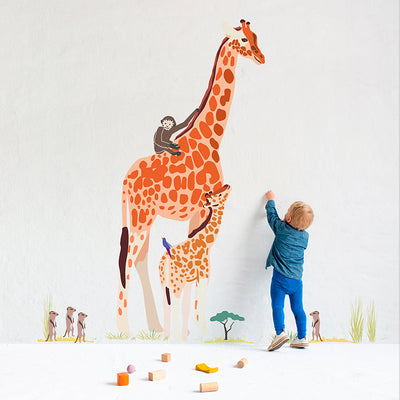 Mimi lou wallsticker, Giant - Safari