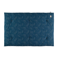 Nobodinoz futon, Eden 148 x 100 cm, gold bubble - night blue
