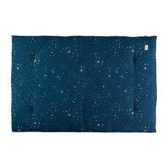 Nobodinoz futon, Eden 148 x 100 cm, gold Stella - night blue
