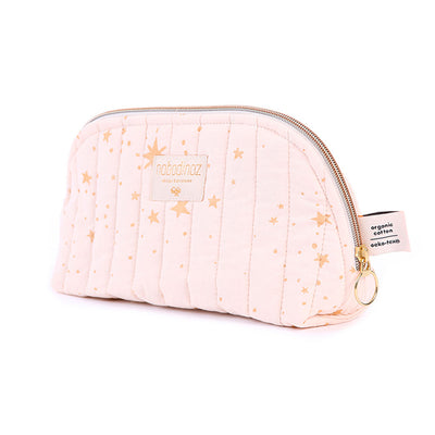 Nobodinoz toilettaske, large, gold Stella - dream pink