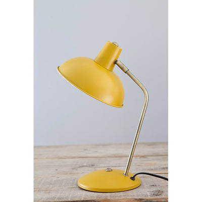 Leitmotiv Hood bordlampe i metal, Matt curry yellow