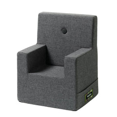 By KlipKlap Kids Chair XL, blue grey w. grey button