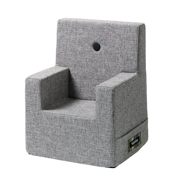 By KlipKlap Kids Chair XL, multi grey w. grey button