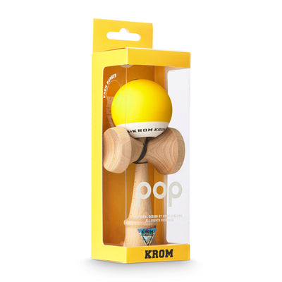 Kendama, Krom Pop - Yellow - vist i æske