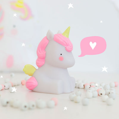 A little lovely company, Mini unicornlampe stemningsbillede