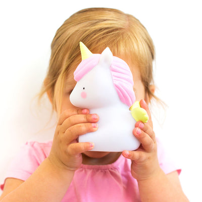 A little lovely company, Mini unicornlampe med pige
