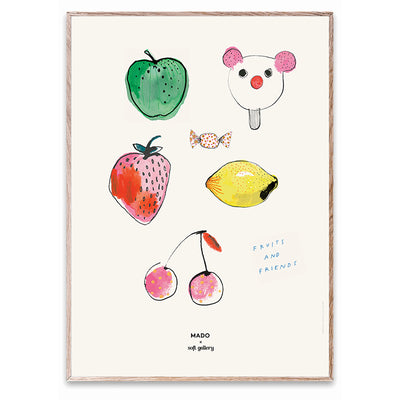 Soft Gallery og Mado plakat, Fruits & Friends - 50 x 70 cm