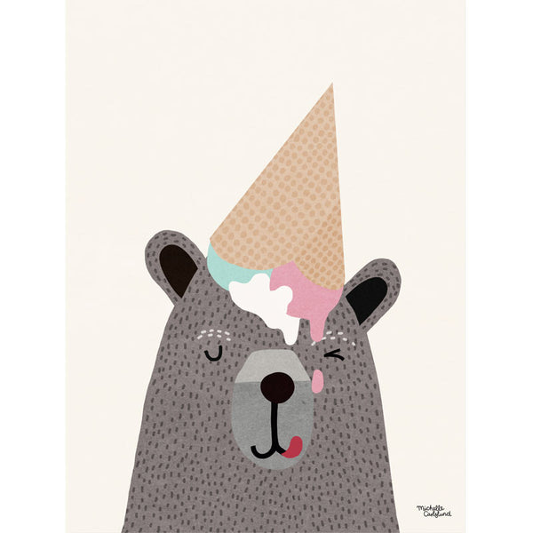 Michelle Carlslund plakat, I love icecream - 30 x 40 cm